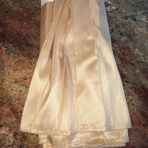 Croscill Queen Gold Satin Like Polyester Bed Skirt